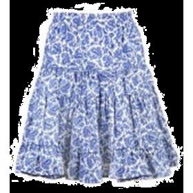 Jupe Fillette Cachemire Bleu / Blanc