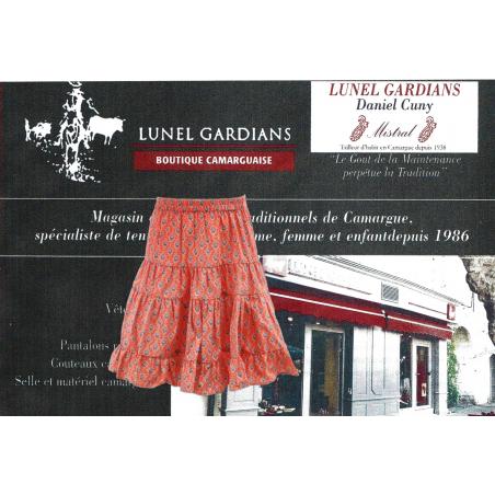 Jupe Arles Fillette Calisson Mandarine