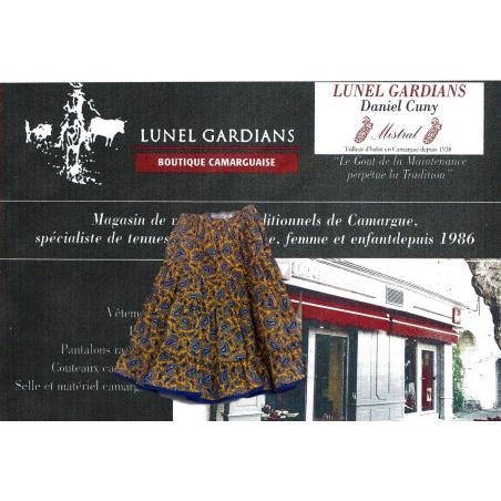 Jupe Arles Fillette Cachemire Fond Jaune