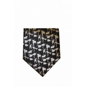 Cravate soie Li-gaso noir/gris