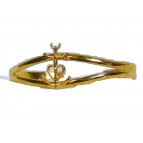 Bracelet Jonc doré croix de cmargue