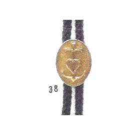 cordeliére camargue Croix Fd ovale doré
