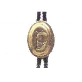Cordelieres  dorée Médaillon.Tête cheval