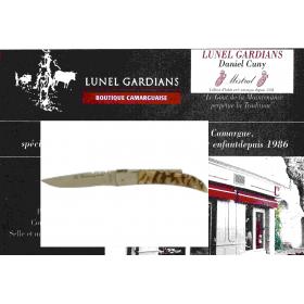 couteau le camarguais n°10 la corne de bélier