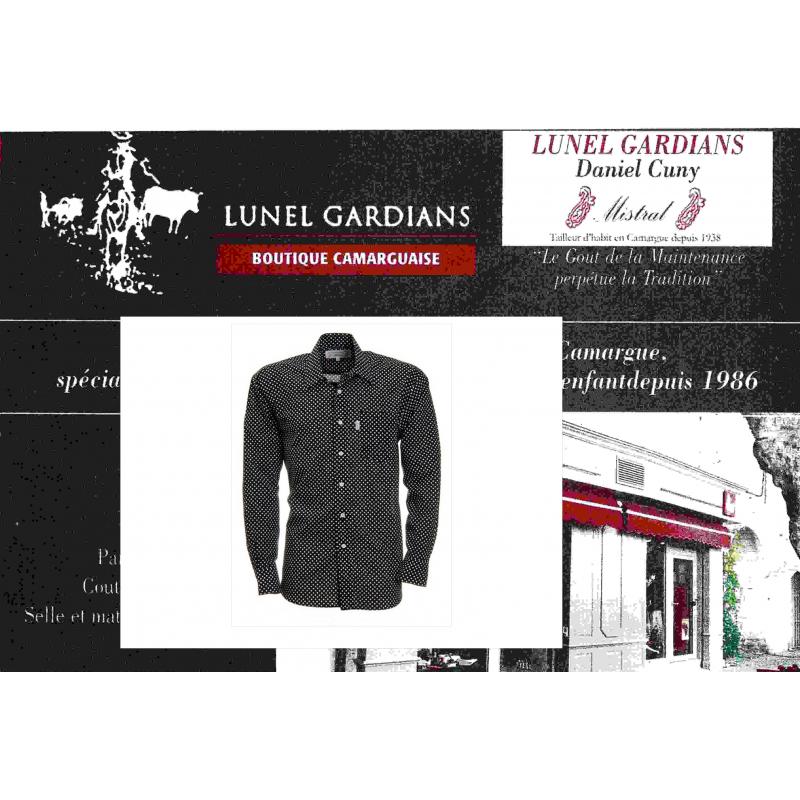 acheter en ligne cbe47 5f775 Chemise Homme Pois voile Gipsy/Fond Noir