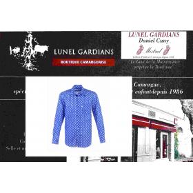 Chemise Gardian voile Calisson bleu royal