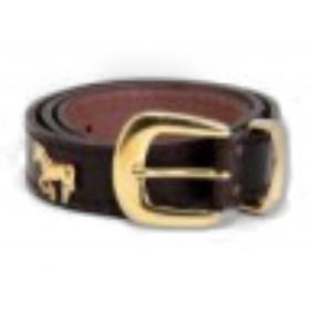 ceinture cuir 25mm cheval doré