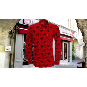 Chemise Gardian Patch Toros/chevaux rouge