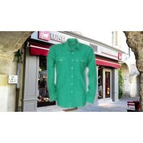 Chemise gardian croix camargue vert