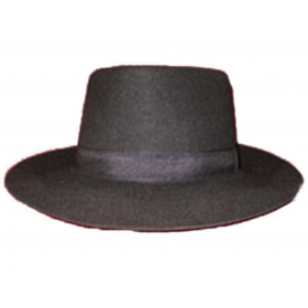 chapeau gardian petit bord -noir