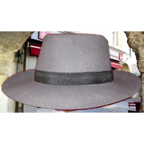 chapeau gardian petit bord-gris