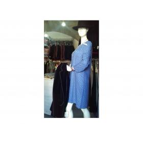 Robe Marie Plume Fond Bleu outremer
