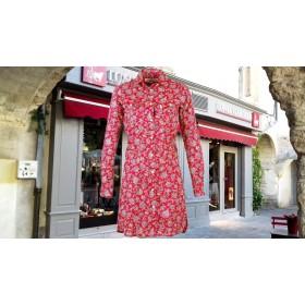 Robe Estrella Palampore Bordeaux
