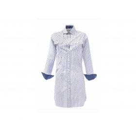 Robe ESTRALLA Plume bleu fond blanc