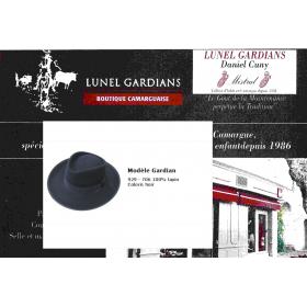 """chapeau gardian """"boyer"""" noir"""