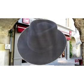 """Chapeau de Gardians NOIR"""" poil de lapin"""""""