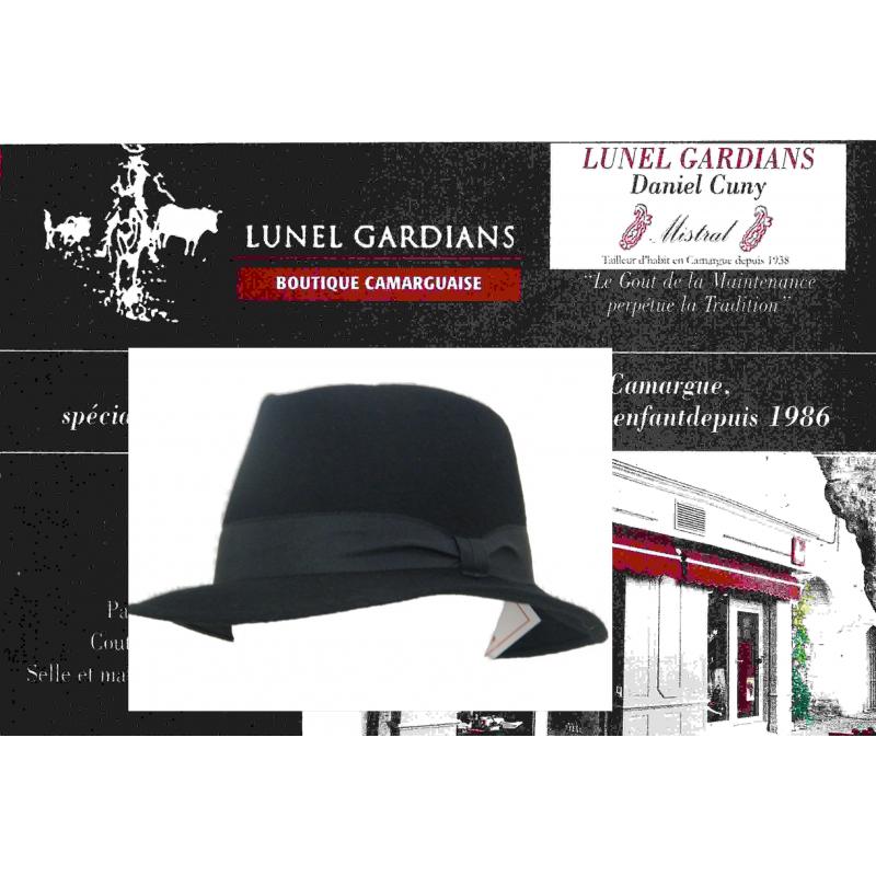 Chapeaux feutre laine noir