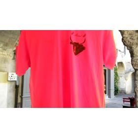 tee-sirt homme(micel gil) rouge taureau