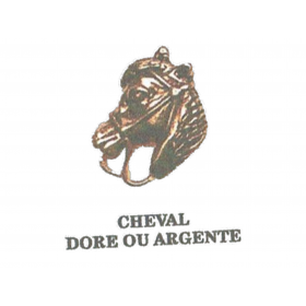 PIN S Cheval doré