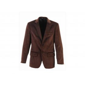 veste velours marron petite côte homme