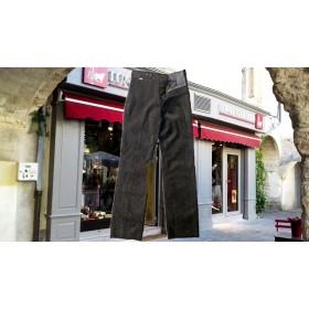 pantalon paysan velours noir