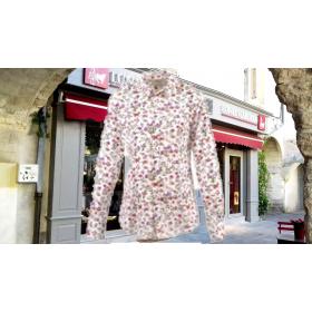 chemisier chaffarcani rose popeline coton