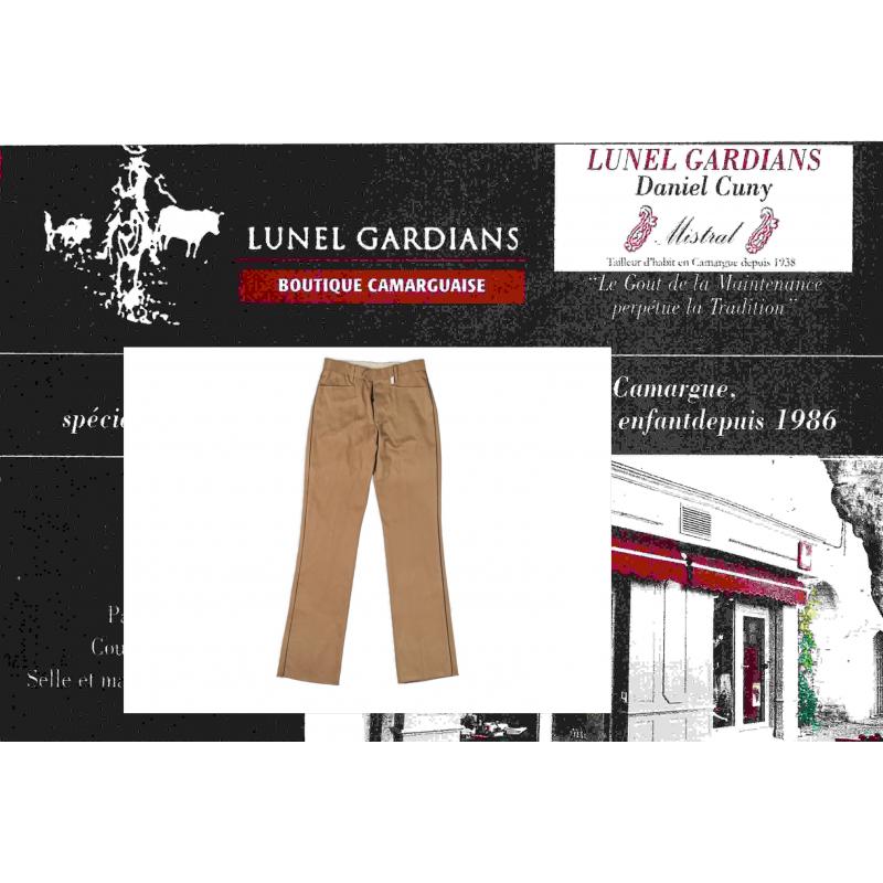 pantalon de gardians enfant noisette