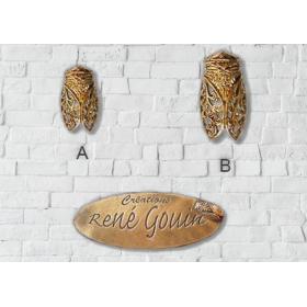 Broches cigale filigrame doré