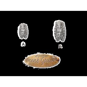 Broches cigale filigrame argenté