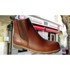 modèle boots marron