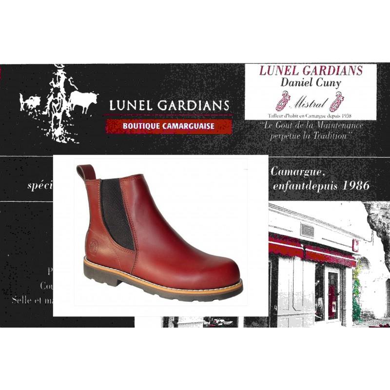 modèle boots bordeaux