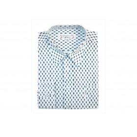 Chemise Enfant / Plume Bleu Fond Blanc