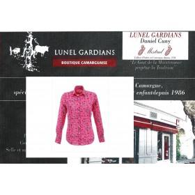 Chemise Chaffarcani Rose Indien