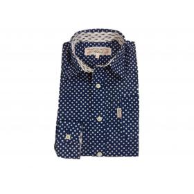 Chemise Saint-Tropez Enfant pois Gipsy indigo