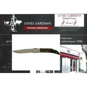 couteaux le camarguais n°12 la corne brune