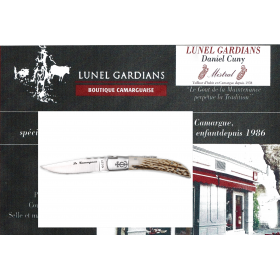 couteaux le camarguais n°12 le cerf poli