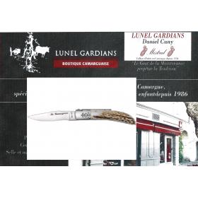 couteau le camarguais le cerf poli