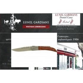 couteau le camarguais n°10 le palissandre