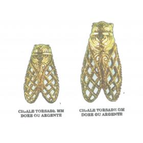 Broches Cigale Torsadé GM doré ou argenté