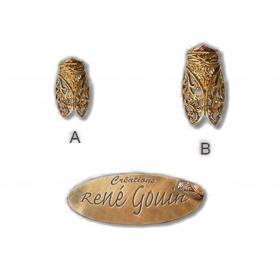 Broche Filigrame GM doré / argenté
