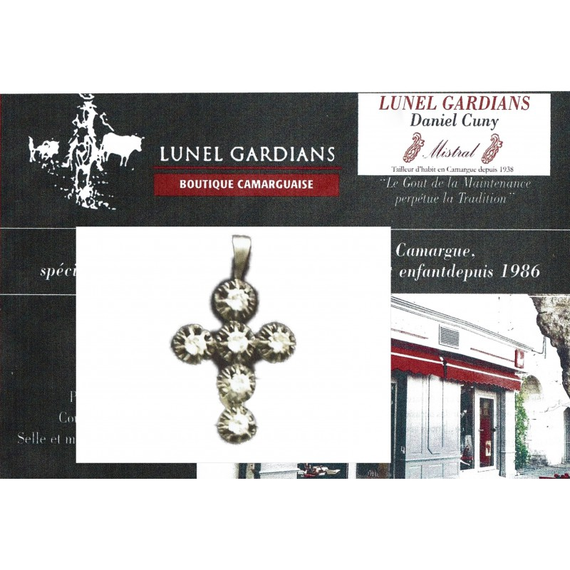 Bijoux de Provence croix jeannette chaton N°15
