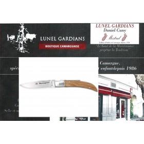 Couteau Camarguais N°10 bois d'Olivier