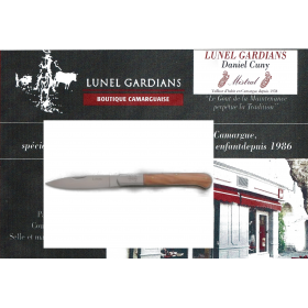 """Couteau -Le Pliant"""" l'Olivette"""" N°10 Olivier"""