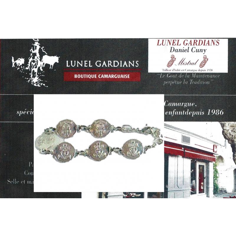 Bracelet Styl PM argenté Croix camargue