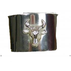 Bracelet Manchette 702 gris inox croix - taureau