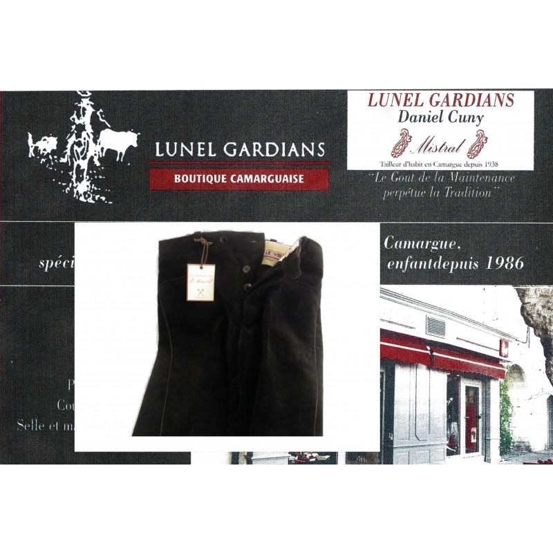 pantalons velours manadier noir petite cote