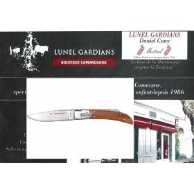 Couteau / Bois de Tamaris N°12 Trident soudé