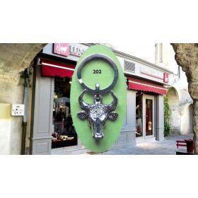 Porte Clés Tête Taureau