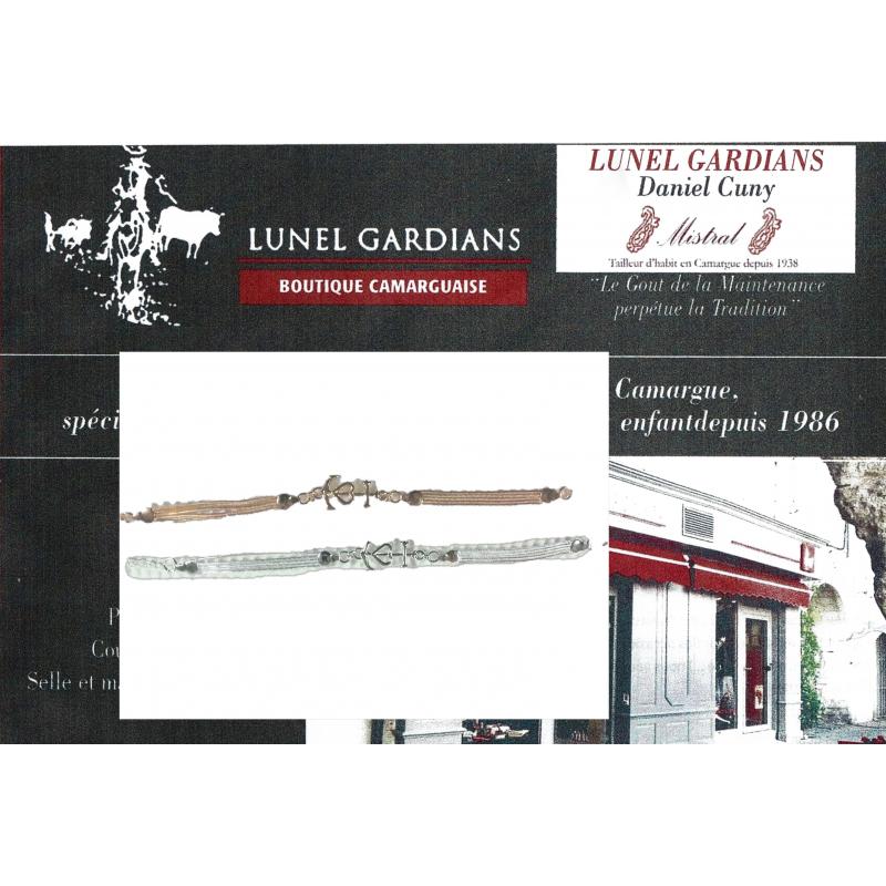 Bracelet -chainette Croix-Camargue
