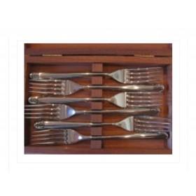 couteau camargais coffret de 6 fourchettes inox